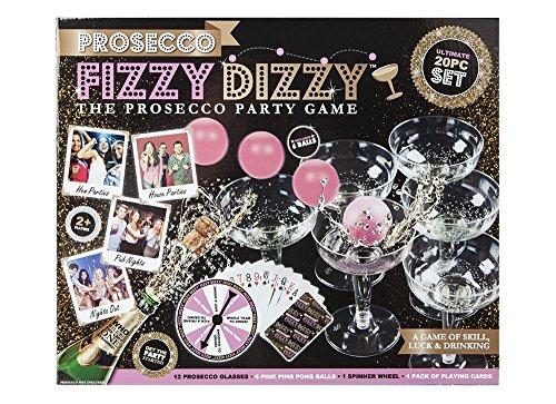 Kohlensäure Dizzy Prosecco Erwachsene trinken Party Spiel Wein Ping Pong Weihnachten Spaß