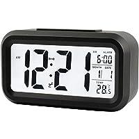Réveil électronique intelligent, hygromètre numérique, thermomètre intérieur, sommeil silencieux, rétroéclairage…