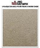 Placa de Mica para Horno de Micro Onda–400x 400mm–Origen Francia–Alto Rendimiento