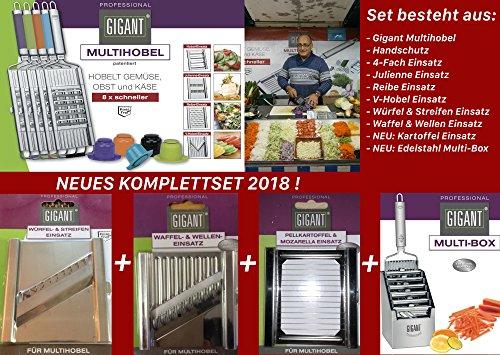 Novabest Gigant Multihobel Komplett-Set 2018 (Edelstahl) -