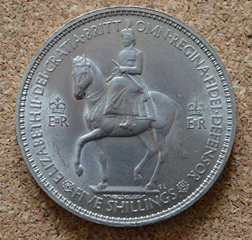 Münzen - 1953 Queen Elizabeth II Coronation Crown, in Geschenkbox Queen Elizabeth 1953