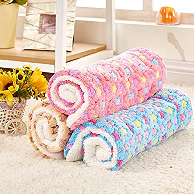 Happy Fd Coral Fleece Star Warming Pet Bed Cushion Pad Dog Cat Cage Kennel Crate Soft Cozy Mat