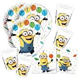 52-teiliges Party-Set Minions Balloons Party - Teller Becher Servietten für 16 Kinder