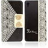 Ukamshop(TM)1PC Fashion Cute Flip Black Wallet Leather Case Cover For Sony Xperia Z2