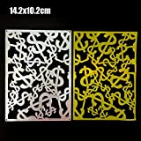 SANFASHION Stanzmaschine Stanzschablone, Schmetterling Scrapbooking Schablonen Prägeschablonen Stanzformen, für Sizzix Big Shot/Cuttlebug / und Andere Embossing Machine