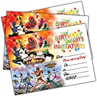 NEW ~POWER RANGERS~ FURY  8 INVITATIONS  PARTY SUPPLIES