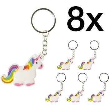 8x pcs. anniversaire enfant licorne Cadeaux clés Cadeaux invités  Anniversaire enfants Unicorn / Unicorn Pendentif
