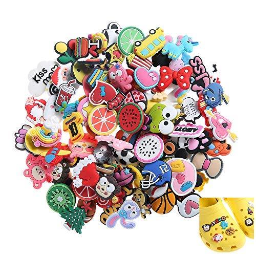 Felice Arts Charm-Anhänger in verschiedenen Formen, passend für Krokodilschuhe und Armbänder, Party-Geschenke, 100 Stück