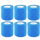 6 Rollen Selbsthaftende Bandage Elastisch Sportbandage Blau 5 cm, 4,6 m von ZJchao