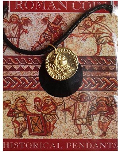 Roman coin domitian aureus ciondolo color oro