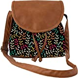 Snoogg Seamless Leaf Patternleaf Background Autumn Seamless Pattern Casual Spacious MultiPurpose Women Sling Bag Carry Around