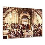 Leinwandbild Raffael Die Schule von Athen - 50x40cm quer -
