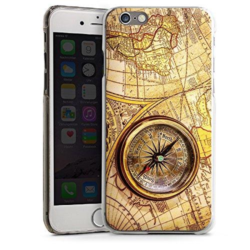 Apple iPhone SE Housse Outdoor Étui militaire Coque Boussole Carte du monde Carte CasDur transparent
