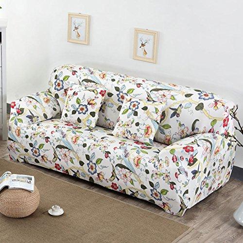 Ssdlrsf fodera per divano elastico 1pc copridivano per divano 1/2/3/4 posti stampa floreale uccelli e fiori fodera per divano avvolgente copridivano per divano (145-185 cm), colore 1,3 posti