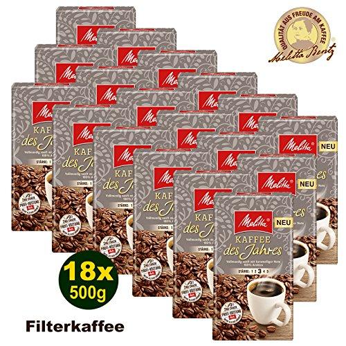 Melitta Kaffee des Jahres 2017 100% Arabica Filterkaffee 18 x 500g (9000g) - Melitta Café gemahlen