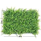 NACOLA 40x 60cm erba artificiale falso TURF prato tappeto spesso erba sintetica erba artificiale Leaf recinto privacy Screen siepe verde, pannelli falso pianta da parete per Pet Outdoor indoor # 6