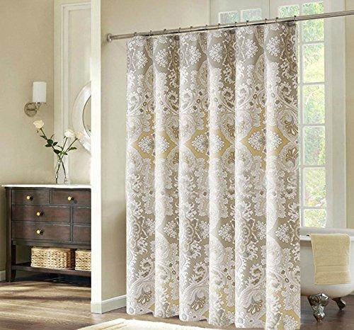 beddingleer 180x 180cm marmo Grain Design Tessuto ad asciugatura rapida doccia tenda impermeabile resistente alla muffa tenda da doccia antiscivolo con ganci