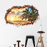 Sunshine Beach Wall 3d Wall Stickers Removeable Home Decor Creative Mural