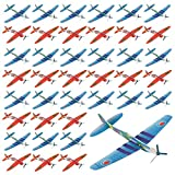 The Twiddlers 48 Paper Planes - Flying Foam Aeroplane Gliders in 12 Different Designs - Perfect Toys for Party Favours, Party Bag Fillers, Class Prizes, Christmas Party Bag, Xmas Stockings Filler Etc