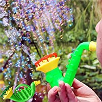 Water Blowing Toys Bubble Gun Soap Bubble Blower Outdoor Kids Child Toys, Anglewolf Portable High Output for Indoor/Outdoor Use Summer Funny Magic Blower Machine Bubble Maker Gift (1 set (4PCS))
