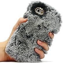 Funda Peluche iPhone 6 / 6s , URCOVER Fake fur Relax Edition Piel Artificial Funda Peluda Fluffy Apple iPhone 6 / 6s Pelo Suave Mullido Cálido Gris