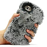 Urcover Coque Douce Peluche Case | Apple iPhone 6 Plus / 6s Plus | Fourrure Gris |...