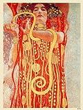onthewall Gustav Klimt Der Kuss Art Nouveau Poster Art Print 40x 30cm (PDP 009)