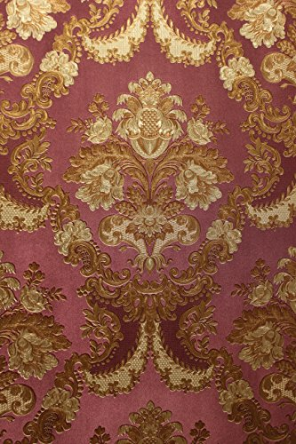 Vinyltapete Tapete Barock Retro # lila/gold # Fujia Decoration # 22831