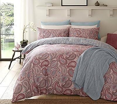Paisley Purple Duvet Cover & Pillowcase Set Bedding Digital Print Quilt Case Single Double King Bedding Bedroom Daybed - cheap UK light store.