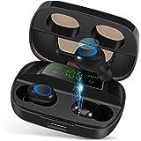 Orangeck Auriculares Inalámbricos Bluetooth 5.0 Auricular Inalámbrico IPX7 Impermeable 120H Playtime Sport Eurbuds 3D Graves