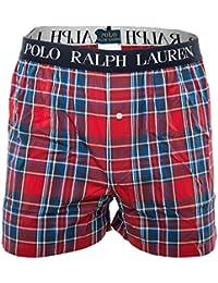 POLO RALPH LAUREN Boxer-short classique pour homme, Webboxershort, à carreaux - Rouge