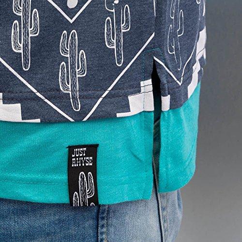 Just Rhyse Cactus Herren T-Shirt Blau Blau