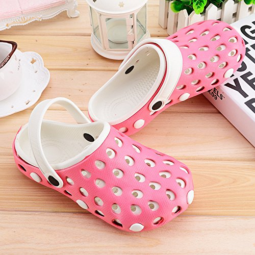 Xing LIN sandali uomo plastica cave scarpe, pantofole, antiscivolo, scarpe da spiaggia casual, Big Head, Cool pantofole, sandali e fondo bagnato uomini e donne pink