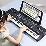 FongFong Piano Keyboard Musikinstrument Tragbares Digital Keyboard mit Notenständer 61 Tasten Pädagogisches Musikinstrument mit für Kinder Kleinkinder