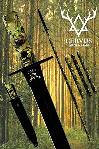 Cervus - Lanza de Caza, Tratamiento OP-Coated®, Funda de Cuero 100% p