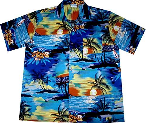 Camisa-Hawaiana-Hombre-Day-on-Hawaii-100-algodn-tamao-2XL