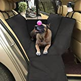Topist Dog Car Seat Cover, Waterproof Durable Oxford Cloth Auto Rear Seat Cover Dog Travel Hammock with Side Protection and Pet Car Safety Belt,