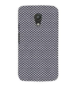Blue Chevron Arrows 3D Hard Polycarbonate Designer Back Case Cover for Motorola Moto G2 X1068 :: Motorola Moto G (2nd Gen)