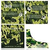 SAVANNA BEARD Kit barbe - Ensemble de 7 pièces - Trousse de toilette en toile de...