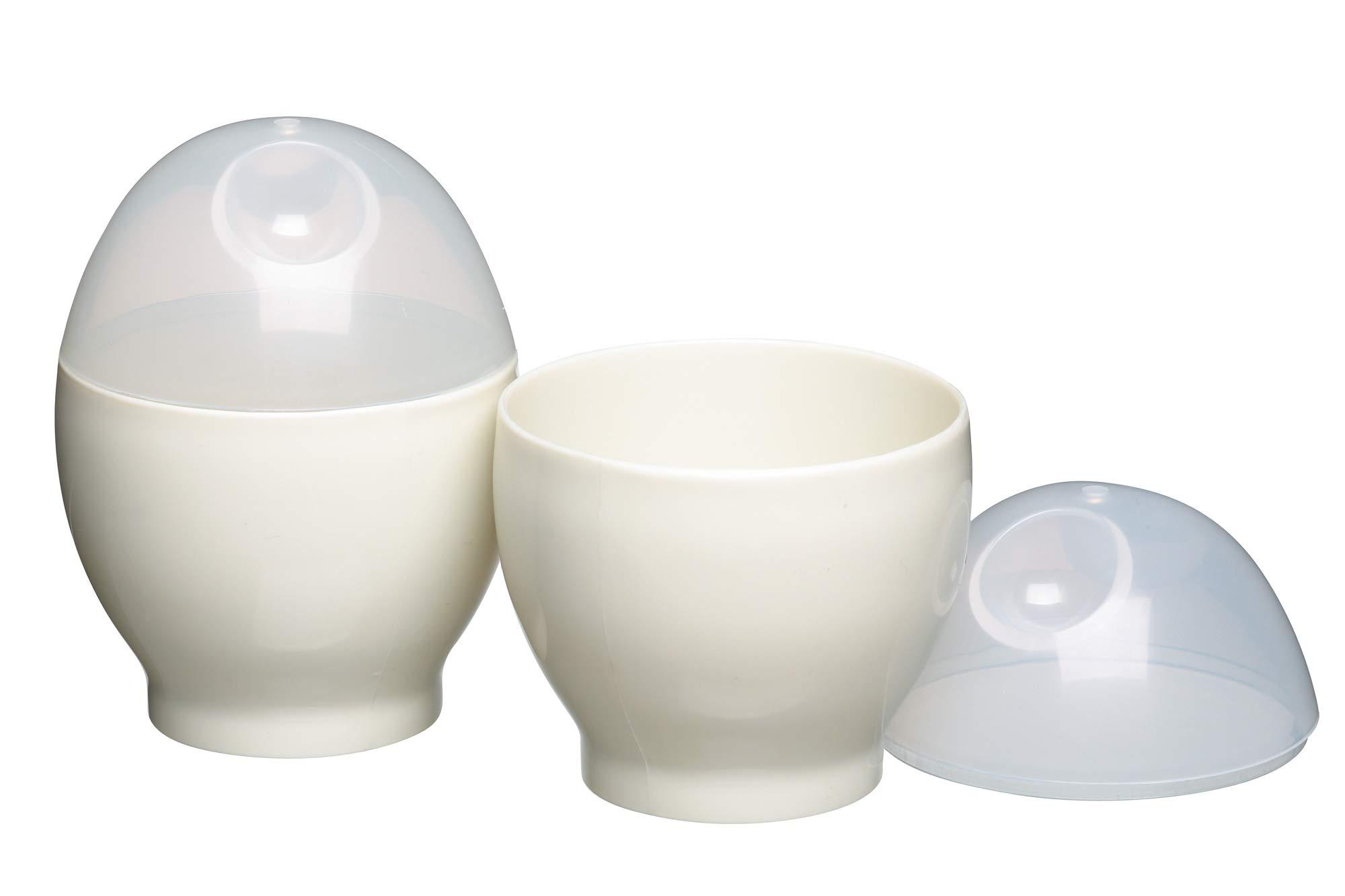 61hf1MklM7L - Kitchen Craft Microwave Egg Boiler Set, 2 Pieces