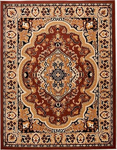 *Carpeto Klassischer Orientteppich & Perserteppich mit Orientalisch Muster Kurzflor in Beige Braun/Top Preis – ÖKO Tex (300 x 400 cm)*