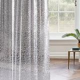 100% impermeable Curtaintree y Liner Resistente al moho Cortinas de ducha para el cuarto de baño Translúcido Cortina de baño Piedra de cristal Ganchos para cortinas transparentes (180x180cm)