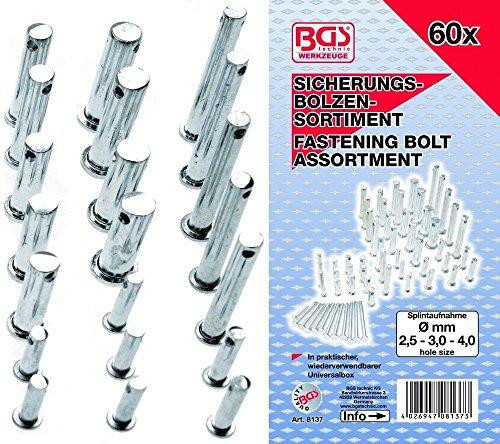 BGS 8137 Sicherungsbolzen-Sortiment, 60-tlg.
