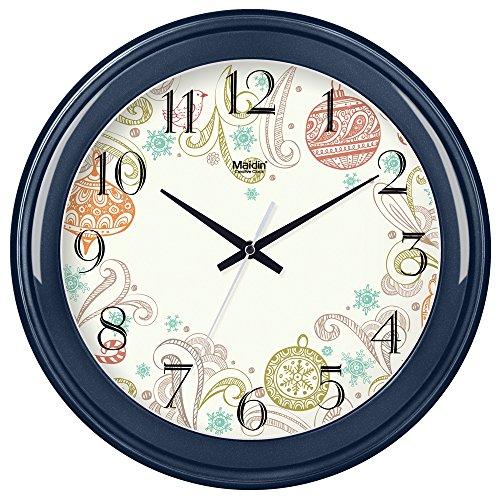 Ewig Tabelle (wanduhr,wanduhr ohne tickgeräusche,wanduhr groß,wanduhr vintage,wanduhr kinder.Wanduhr Wohnzimmer Runde kreative Uhr hängende Tabelle einfach stumm elektronische Quarzuhr ewigen Kalender)