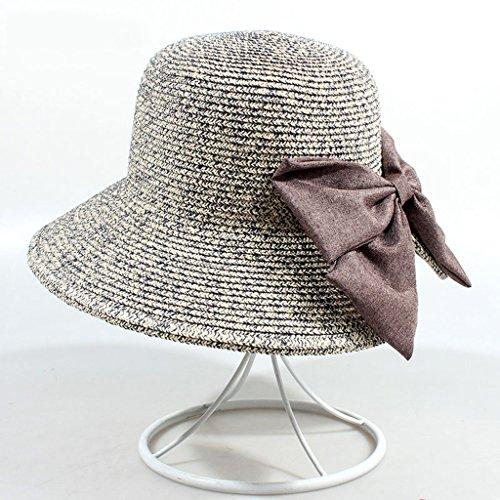 chapeau de soleil Chapeau de plage Pantalon solaire à la mode Grand le long du chapeau de soleil à curling pliable ( Couleur : #4 ) #1