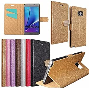 By LussoLiv Mohoo Flip Glitter Leather Wallet Case Card Pocket Stand For Samsung Galaxy S7**