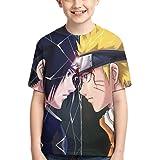 SUNERLADY Cartoon Naruto Boys and Girls Short Sleeve T-Shirt Youth Unisex 3D Printed Tee Shirts