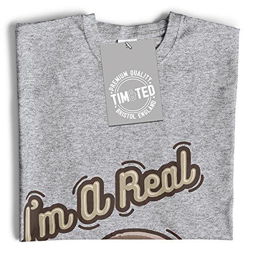 Calembour T-Shirt Pour Femme Je Suis Un Vrai Fungi Mushroom Drôle Mignon Idiot Fun Slogan Guy Black