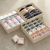 KAIQINSN 24 Grid Multi-size Underwear Organizer Foldable Home Storage Box Non-woven Wardrobe Drawer Closet Organizer For Scarfs Socks