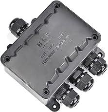 ATPWONZ wasserdicht Kabelverbinder TÜV geprüfte Abzweigdose aussen, größere Verbindungsdose Erdkabel Schwarz elektrischer Außenverteilerdose, M16 Kabelverschraubung Ø 5mm-10mm (IP66)